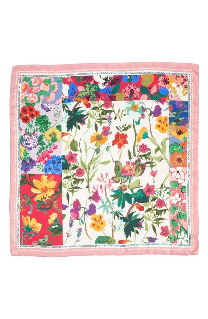 Salvatore Ferragamo Botanic Foulard Silk Scarf ($380)