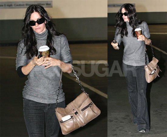 Courtney Cox with Coffee