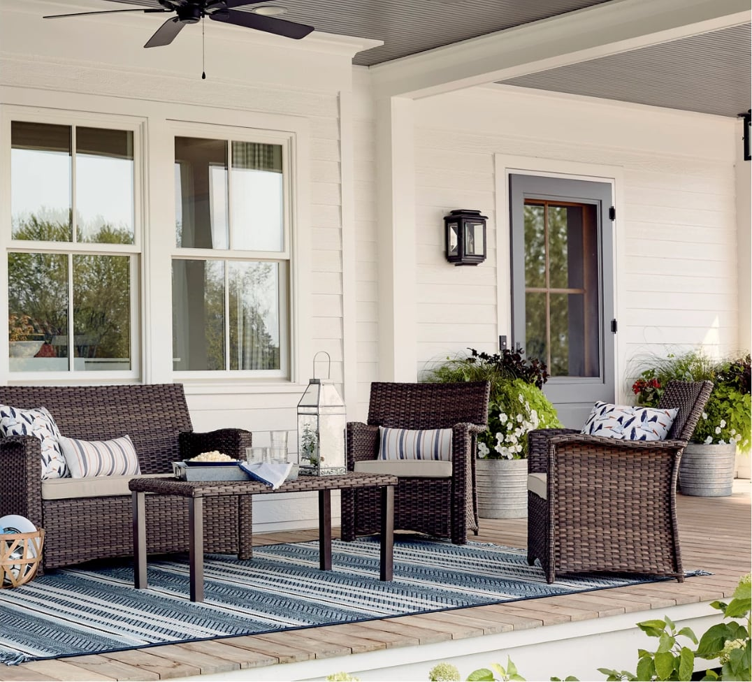 Halsted All Weather Wicker Patio Conversation Set Best Target Outdoor Furniture For Small Spaces Popsugar Home Uk Photo 50