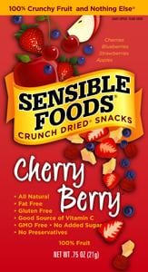 Sensible Foods Crunch Dried Snacks Food Review