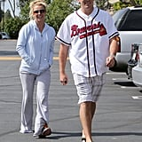 Britney Spears walked with David Lucado.