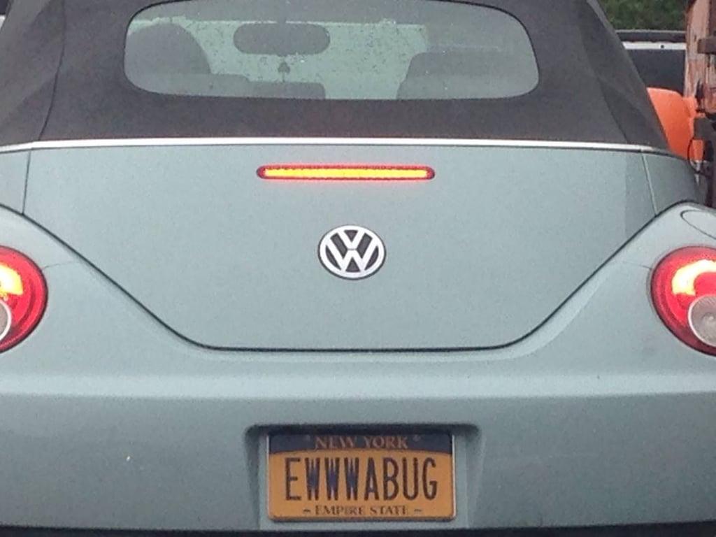 """I find few vanity plates clever . . . "" Source: Reddit user fightingdove via Imgur"
