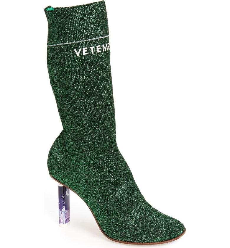 The glittery Vetements Sock Boot ($2,230) is a classic on the street during Fashion Week.