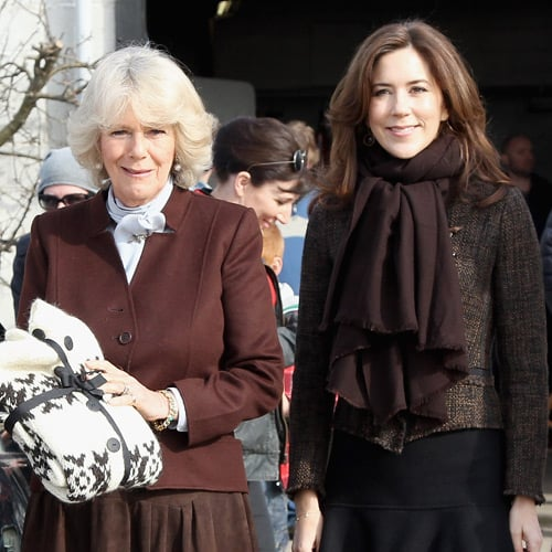 Princess Mary and Camilla Parker-Bowles Pictures at The Killing TV Set