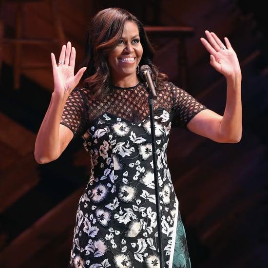 Michelle Obama Wears Self-Portrait Dress September 2016