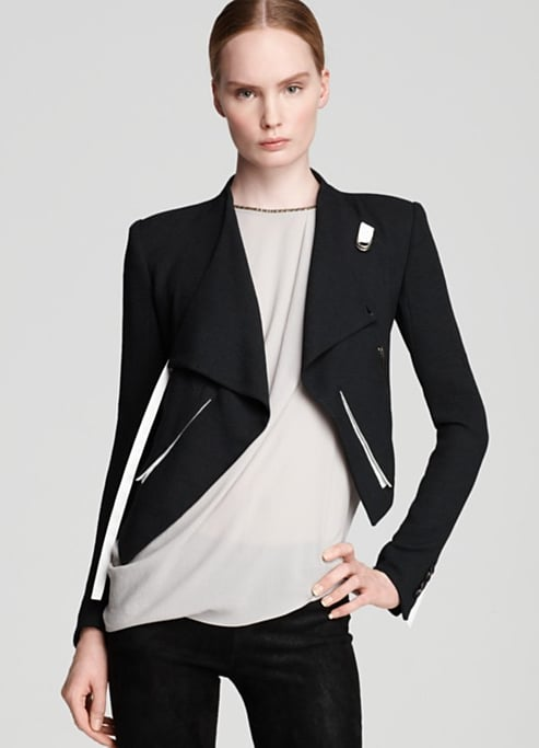 Helmut Lang's cropped Sugar jacket ($575) fits right in with Spring's black-and-white trend. We adore the futuristic cut.