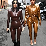 Kim Kardashian Balmain Latex Look 1
