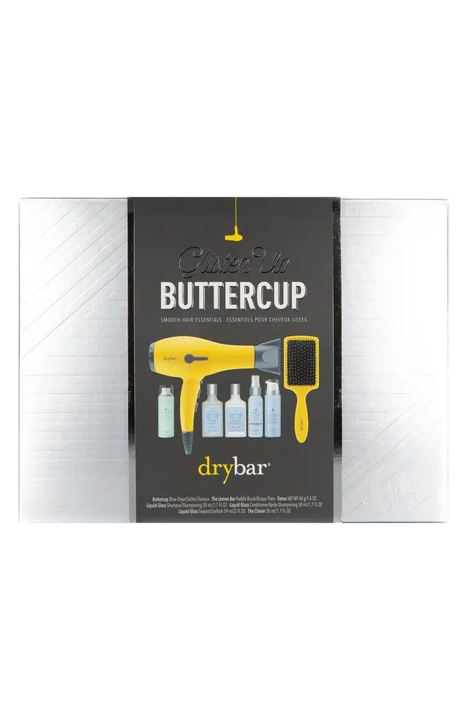 Best Hair Gifts For Beginners: Drybar Glisten Up Buttercup Smooth Hair Essentials Set