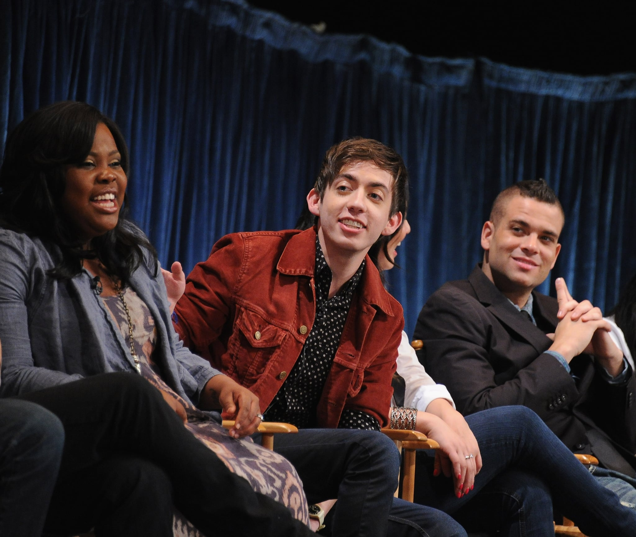 Amber Riley, Kevin McHale and Mark Salling