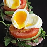 Healthy Egg, Canadian Bacon, and Avocado English Muffin