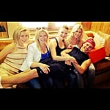 Derek Hough reunited with all four of his sisters, including Julianne Hough. Source: Instagram user derekhough
