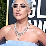 Lady Gaga's Blue Hair at the Golden Globes