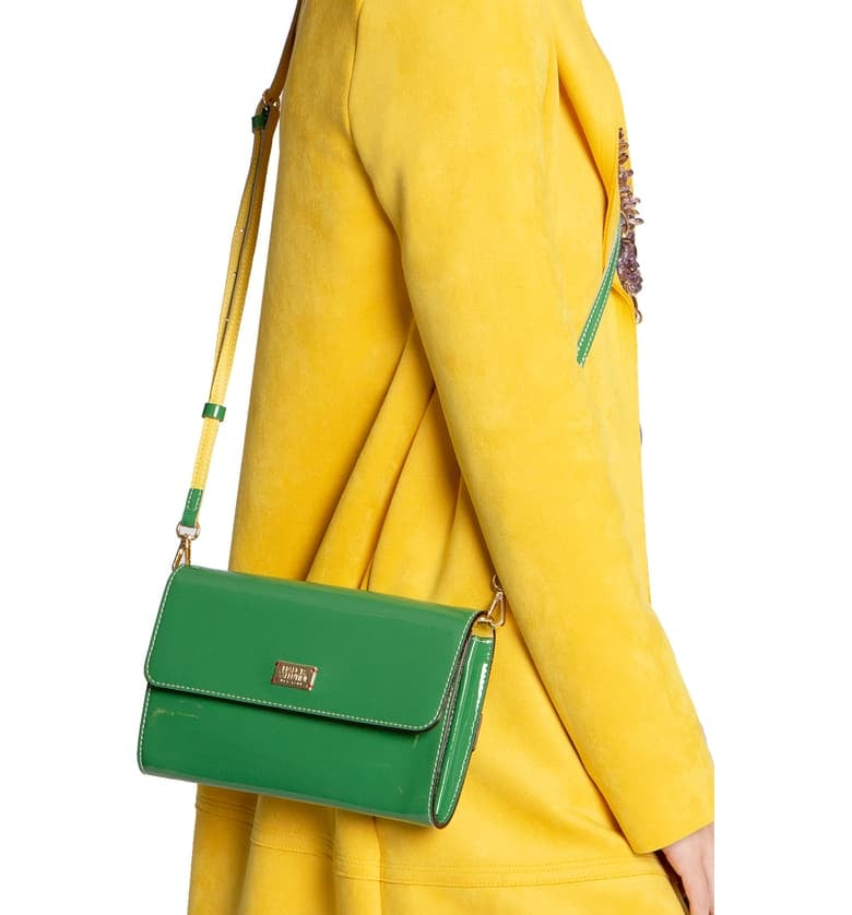 Tiana: Frances Valentine Kelly Patent Leather Crossbody Bag