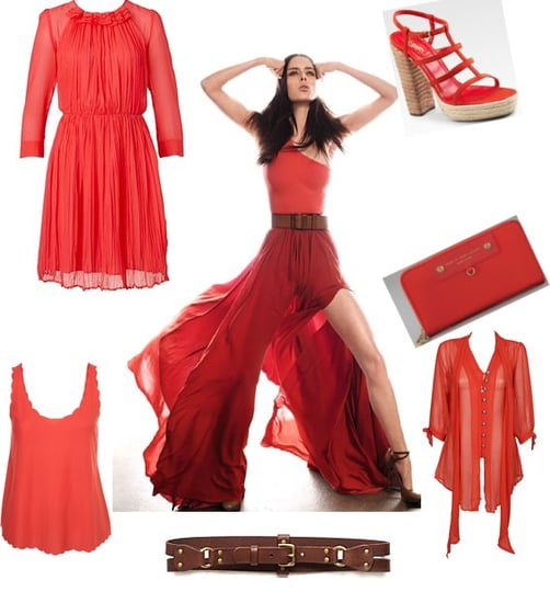Trend alert: Red! Shop Coco Rocha's Scarlet Lady Style, from French Connection, Marc by Marc Jacobs, YSL and more