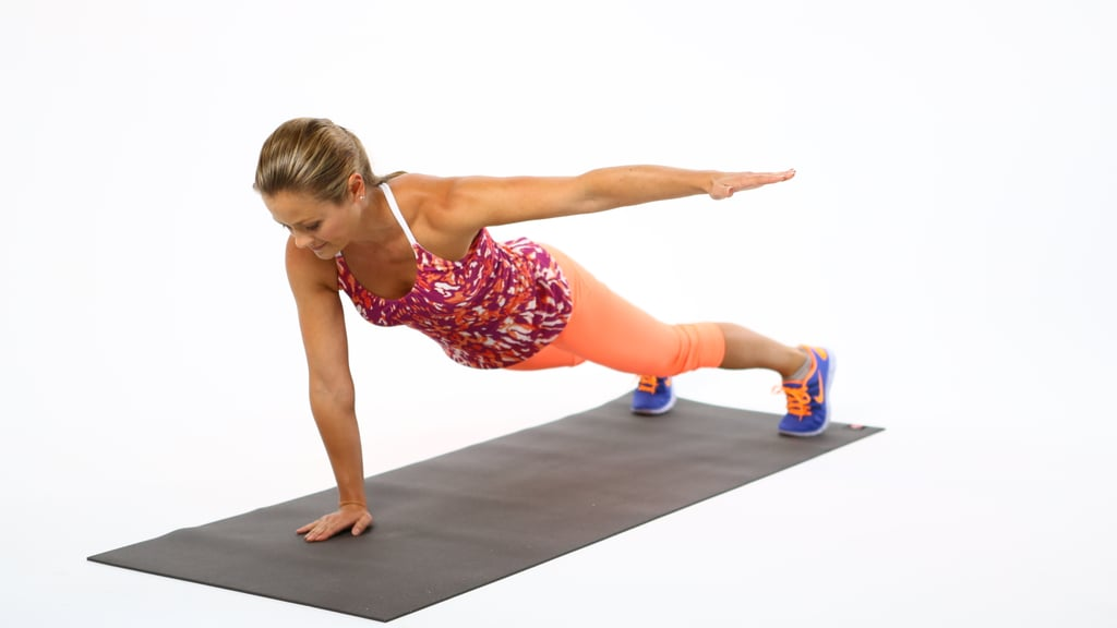 Circuit One: Plank With Lateral Arm Reach