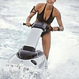 Angelina Jolie rode a Jet Ski for her role in 2003's Lara Croft Tomb Raider: The Cradle of Life.  Photo courtesy of Paramount