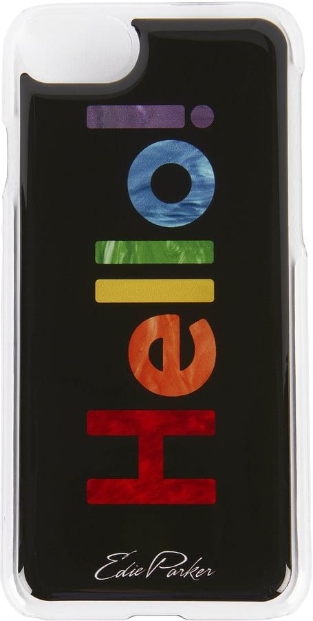 Edie Parker Rainbow Hello! iPhone 6 or 7 Case Black
