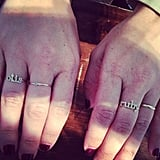 Adorable alert: Jewelry designer and CFDA/Vogue Fashion Fund finalist Jennifer Meyer showed us her new collection, which includes custom rings with her children's names on them! Source: Instagram user popsugarfashion