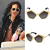 Obsessed with Rihanna's statement sunglasses? Get a pair for yourself.