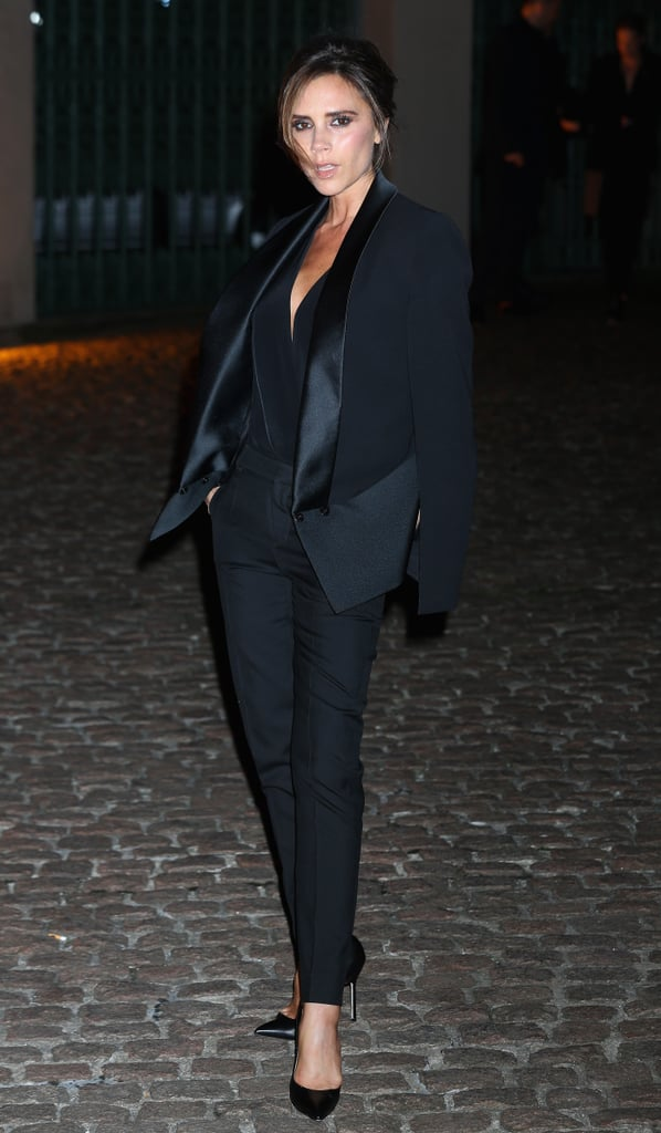 """Victoria Beckham attended the event after designing a """"green"""" dress for the first Green Carpet Challenge collection."""