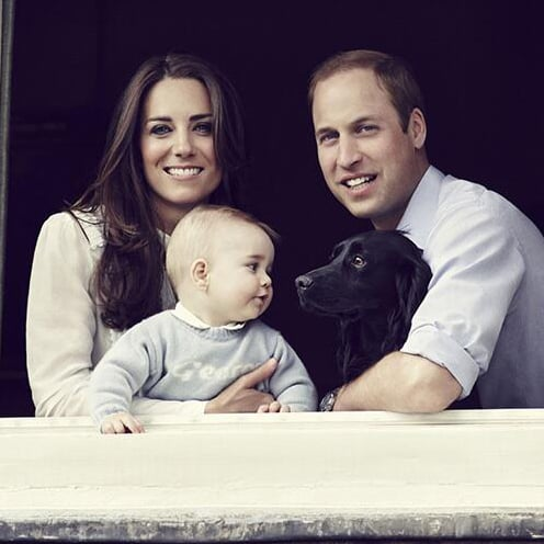 Prince George in Official Royal Family Portrait March 2014