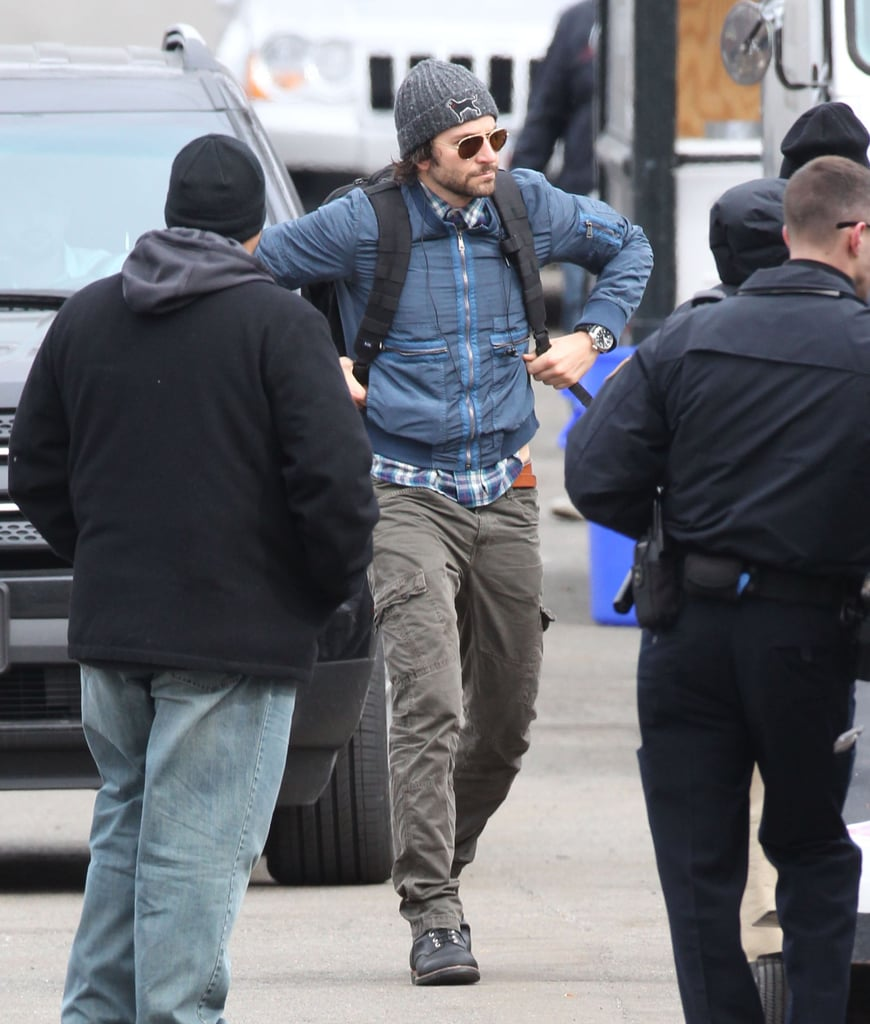Bradley Cooper reported to his Boston set.