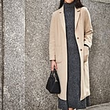 On Assistant Editor Marina Liao: Topshop coat, Zara dress, Givenchy bag, and Halogen boots.