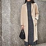 On Assistant Editor Marina Liao: Topshop coat, Zara dress, Givenchy bag, and Halogen boots.