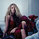 Blake Lively wore red in a sultry spread for Bullett in 2012.