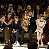 The whole family sat front row to support Burberry designer Christopher Bailey at the brand's runway show in April 2015.