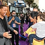 Will Smith and Tatyana Ali at the Aladdin Movie Premiere