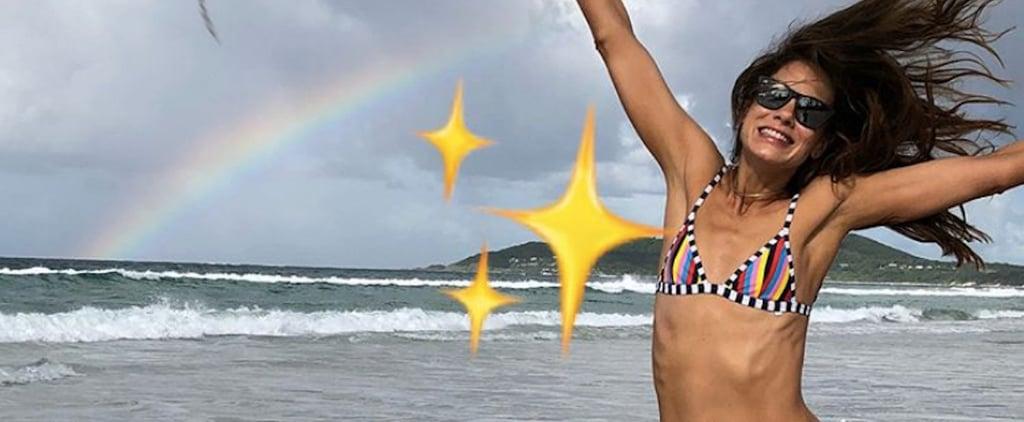 Michelle Monaghan in a Rainbow Bikini