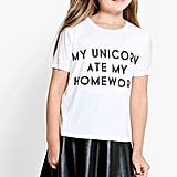 Unicorn Ate My Homework Tee