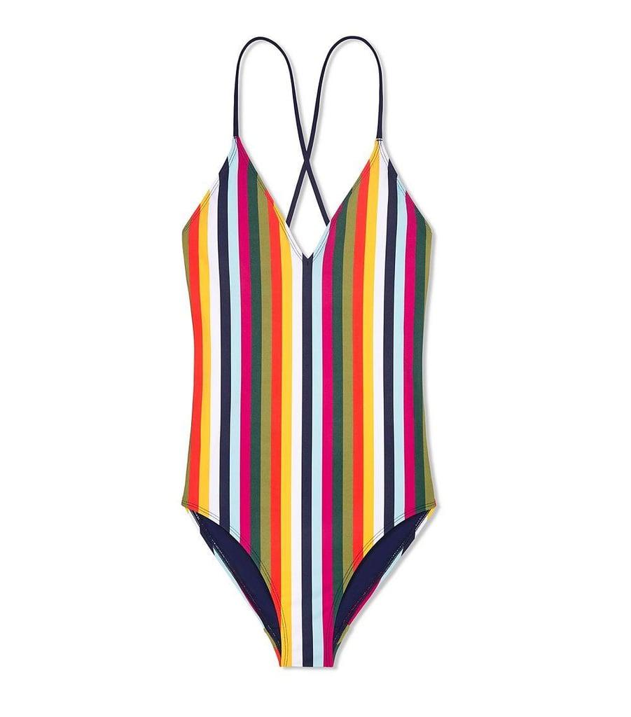 263a68192812b Tory Burch Feliz Stripe One Piece | Vertical Stripe Swimsuits ...