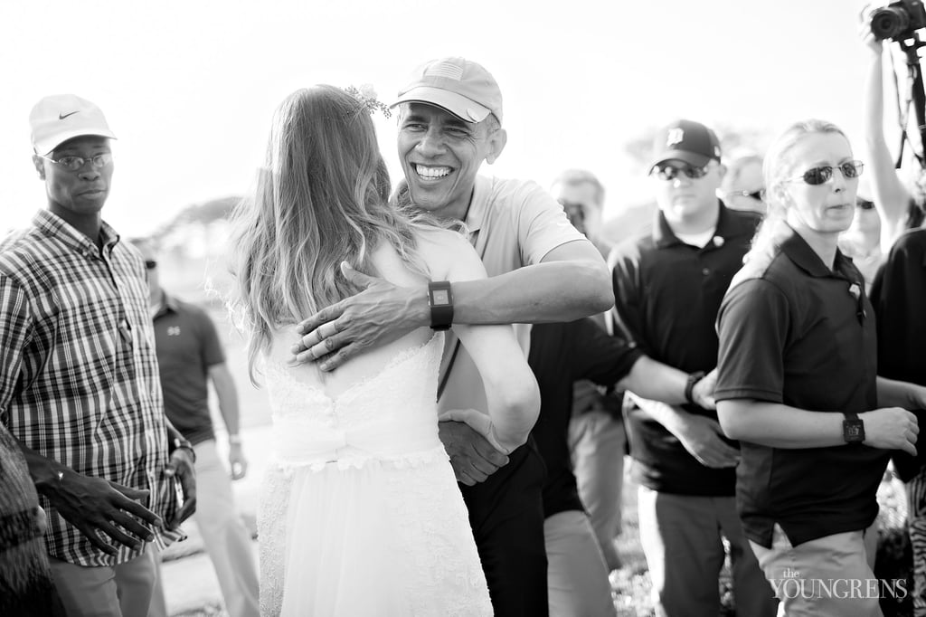 Obama Crashes Wedding in San Diego