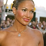 Jennifer Lopez's Bright Makeup in 2003