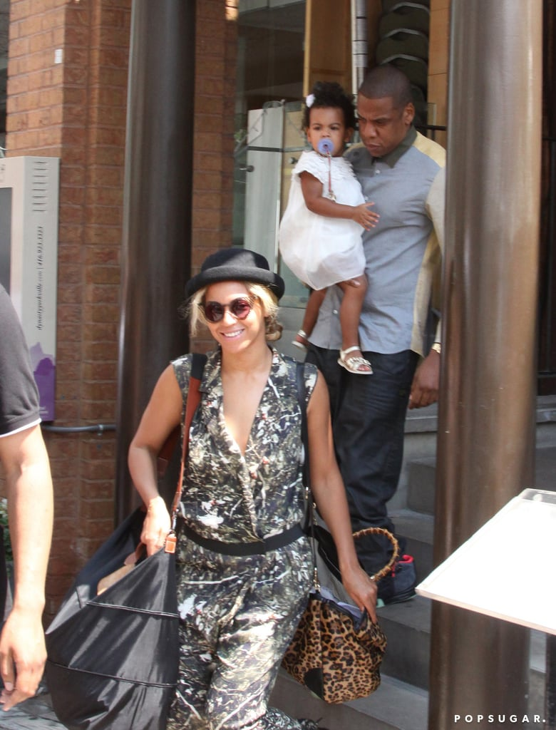 Beyoncé, Jay Z, and Blue Ivy Carter had lunch together in Toronto.