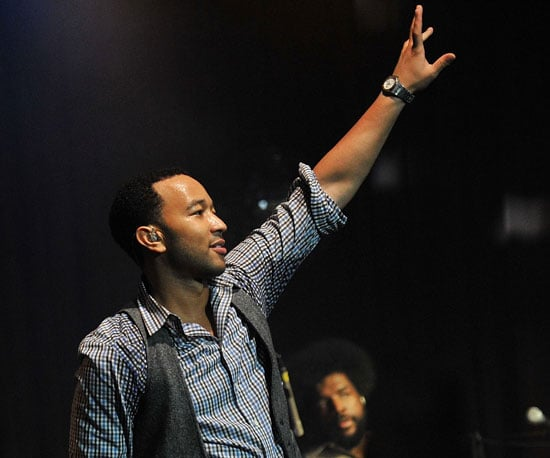 Slide Picture of John Legend Performing With The Roots in NYC