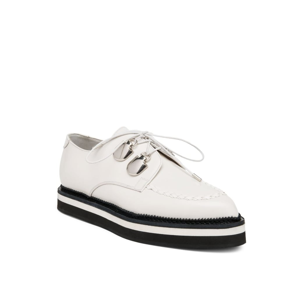 Alexander McQueen 2-Tone Leather Lace-Up Creeper Shoes ($895)