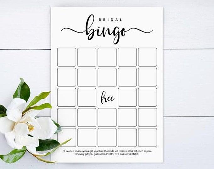 photograph about Bridal Bingo Printable named Bridal Bingo Video game Printable Bridal Shower Game titles POPSUGAR