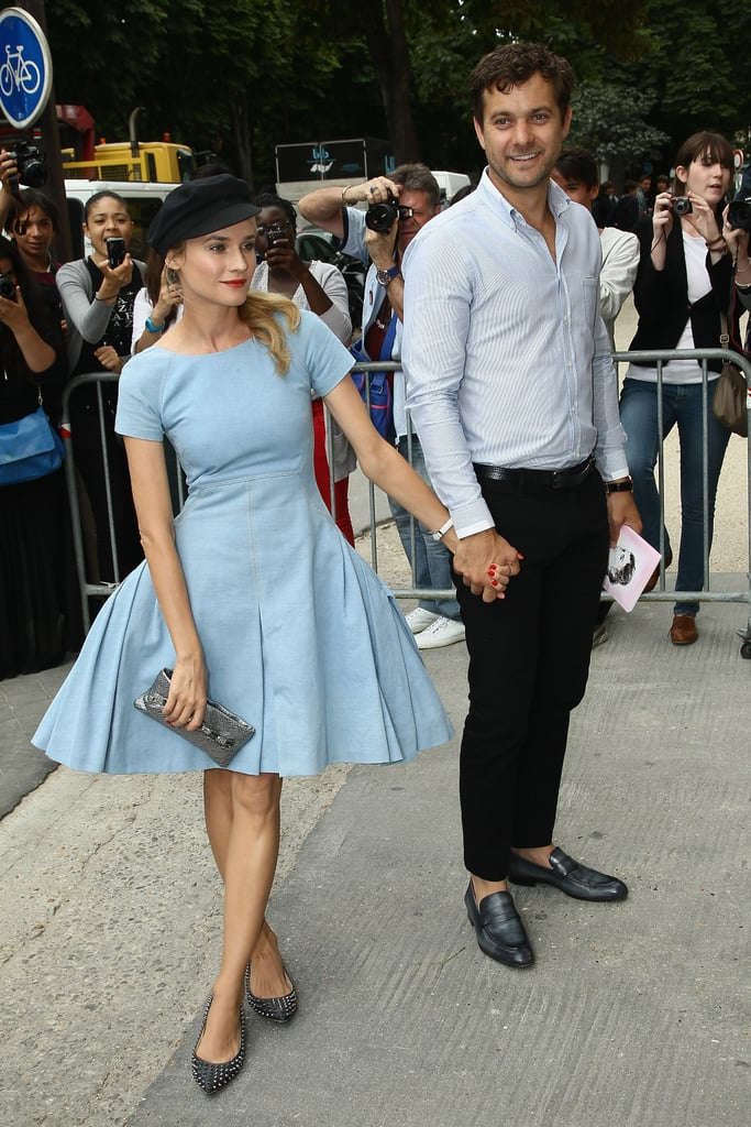 Diane Kruger and Joshua Jackson were hand-in-hand for the Chanel show in Paris.