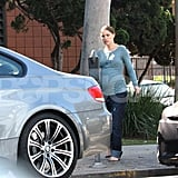 Natalie Portman Shows Off Her Bigger Pregnant Belly in a Tight Shirt