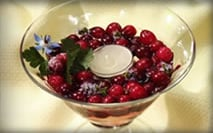 Cranberry Decorating Part II: Cranberry Candle Cups