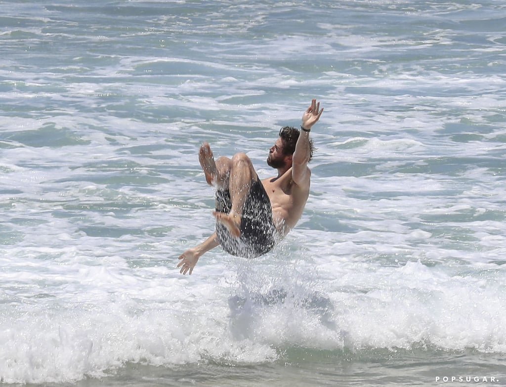 Miley Cyrus and Liam Hemsworth Swim in Australia Jan. 2018