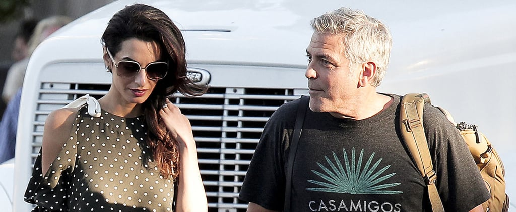 George Clooney Gets an On-Set Visit From Amal After Celebrating Their Wedding Anniversary