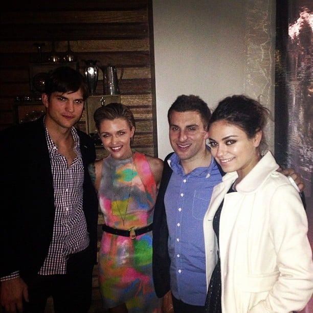 Ruby Rose had dinner with Ashton Kutcher and Mila Kunis when they were in Sydney in November. Source: Instagram user rubyrose86