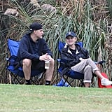 Reese Witherspoon and Jim Toth watched Deacon's soccer game together.