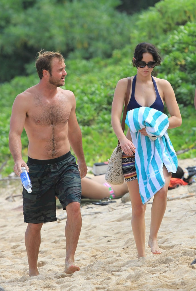 Jennifer Lawrence was in Hawaii with family.