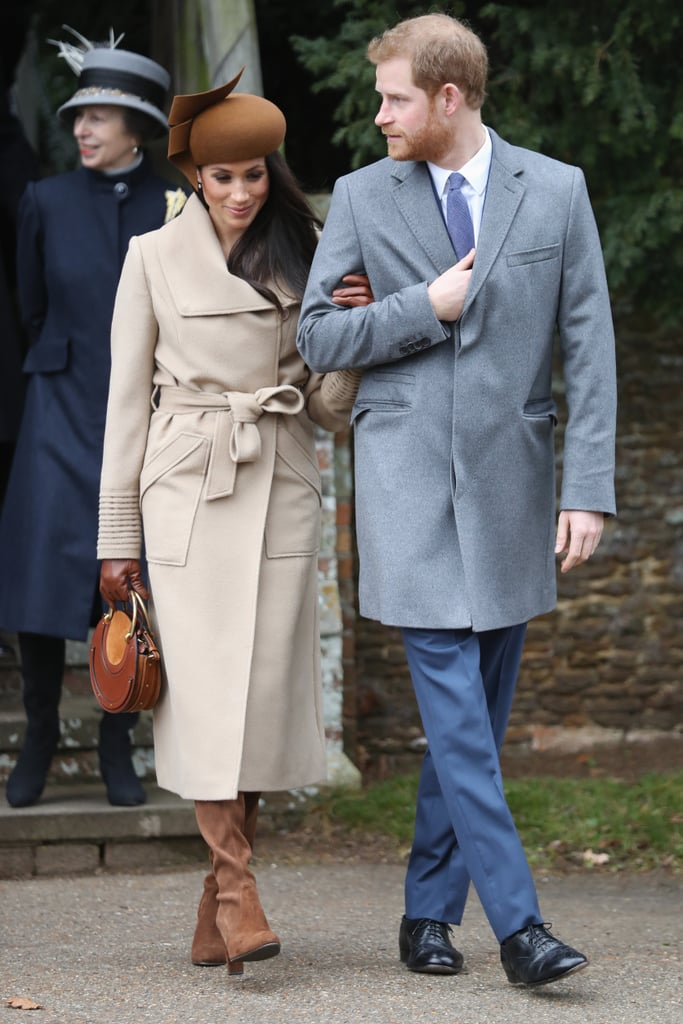Members of the British royal family came together on Christmas morning for a family tradition, making the walk from the queen's Sandringham Estate to the church of St. Mary Magdalene for the 11 a.m. public service. All eyes were on Prince Harry's fiancée, Meghan Markle, who was enjoying her first Christmas with the royals, and she was in fine form, wrapped up against the cold as she stayed close to her beau. Rather than staying with the queen at Sandringham House, Harry and Meghan have been guests of Prince William and Kate at their nearby home of Anmer Hall and no doubt spent the morning with a very excited Prince George and Princess Charlotte. The young royals definitely looked to be in good spirits as they made their way to the church with their parents. Later, the family will sit down for a traditional Christmas dinner before watching the queen's annual Christmas message, which is expected to include a special mention for Harry and Meghan.      Related:                                                                                                           Kate Middleton and Meghan Markle Lead the Way as the Royals Head to Church on Christmas Day