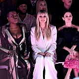 Leslie Jones Hypes Up Coco Rocha at Christian Siriano NYFW